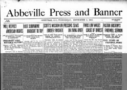 The Abbeville Press And Banner