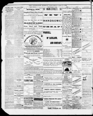 The Weekly Caucasian From Lexington Missouri On January 6