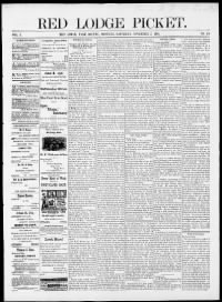 Sample Red Lodge Picket front page