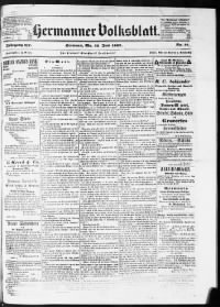 Sample The Hermanner Wochenblatt front page
