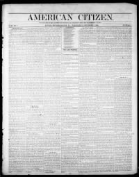 Sample American Citizen front page