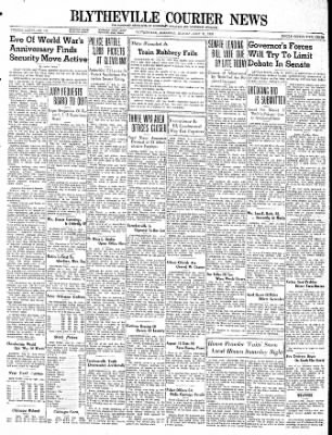 The Courier News from Blytheville, Arkansas on July 31, 1939 · Page 1