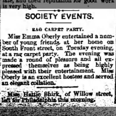 Emma Oberly - SOCIETY EVENTS. BAG CARPET PAKTY. Miss Emma...