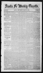 Sample Santa Fe Weekly Post front page