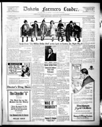 Sample Dakota Farmers' Leader front page