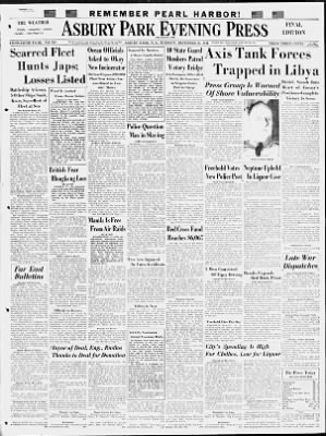 Asbury Park Press from Asbury Park, New Jersey on December 16, 1941 · Page 1