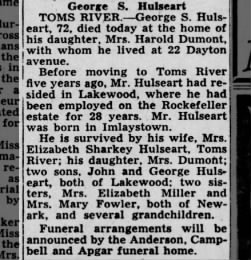 George S Hulseart obituary