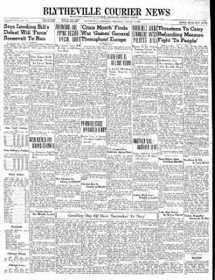 The Courier News from Blytheville, Arkansas on August 2, 1939 · Page 1