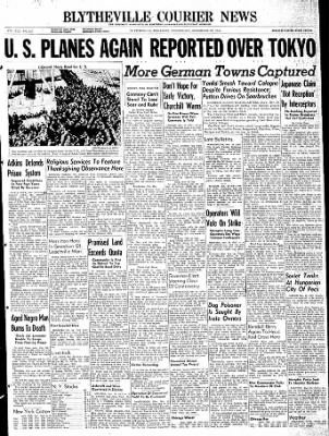 The Courier News from Blytheville, Arkansas on November 29, 1944 · Page 1