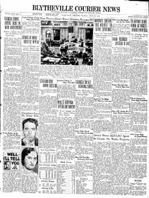 The Courier News from Blytheville, Arkansas on April 12, 1938 · Page 1