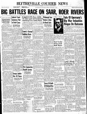 The Courier News from Blytheville, Arkansas on December 1, 1944 · Page 1