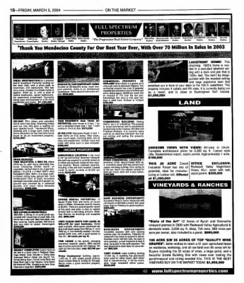 Ukiah Daily Journal from Ukiah, California on March 5, 2004 · Page 32