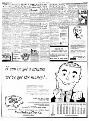Alton Evening Telegraph from Alton, Illinois on October 22, 1956 · Page 9