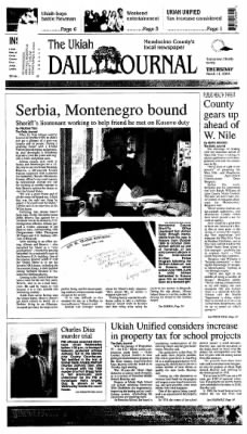 Ukiah Daily Journal from Ukiah, California on March 11, 2004 · Page 1