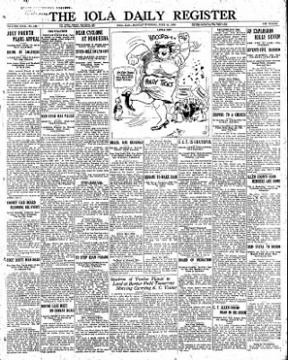 Iola Daily Register And Evening News from Iola, Kansas on June 14, 1926 · Page 1