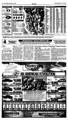 Ukiah Daily Journal from Ukiah, California on March 13, 2004 · Page 14