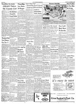 Alton Evening Telegraph from Alton, Illinois on October 27, 1956 · Page 2