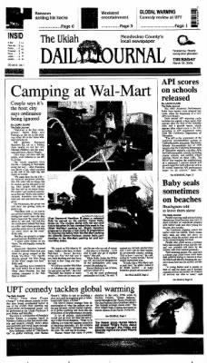 Ukiah Daily Journal from Ukiah, California on March 18, 2004 · Page 1