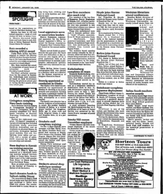 The Salina Journal from Salina, Kansas on January 22, 1996 · Page 16