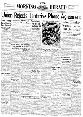 The Morning Herald from Hagerstown, Maryland on April 12, 1947 · Page 1