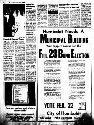 The Humboldt Independent from Humboldt, Iowa on February 18, 1967 · Page 4