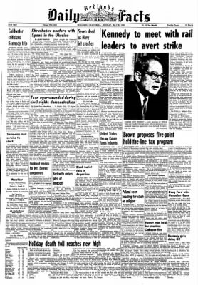 Redlands Daily Facts from Redlands, California on July 8, 1963 · Page 1