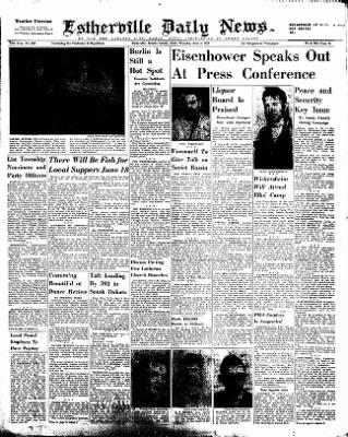 Estherville Daily News from Estherville, Iowa on June 5, 1952 · Page 1