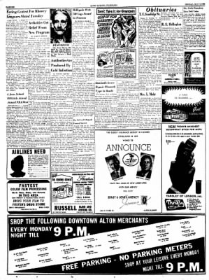 Alton Evening Telegraph from Alton, Illinois on July 7, 1958 · Page 6