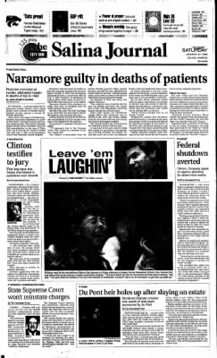 The Salina Journal from Salina, Kansas on January 27, 1996 · Page 1