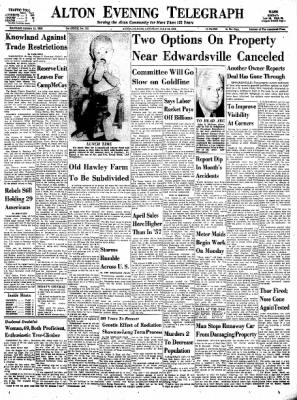 Alton Evening Telegraph from Alton, Illinois on July 12, 1958 · Page 1