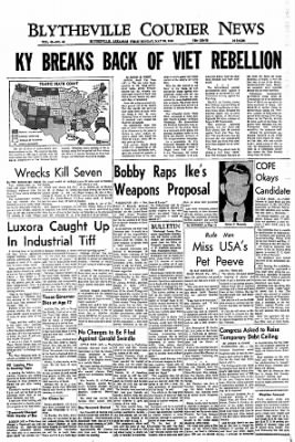 The Courier News from Blytheville, Arkansas on May 23, 1966 · Page 1