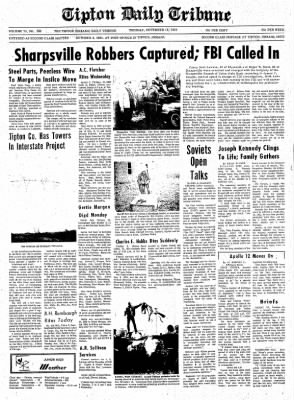 The Tipton Daily Tribune from Tipton, Indiana on November 18, 1969 · Page 1
