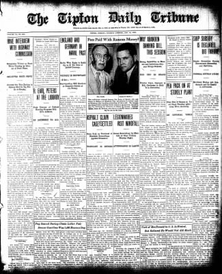 The Tipton Daily Tribune from Tipton, Indiana on June 18, 1935 · Page 1