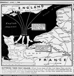 Normandy landings map
