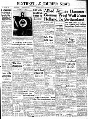 The Courier News from Blytheville, Arkansas on December 4, 1944 · Page 1