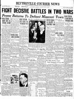 The Courier News from Blytheville, Arkansas on April 16, 1938 · Page 1