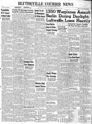 The Courier News from Blytheville, Arkansas on December 5, 1944 · Page 1