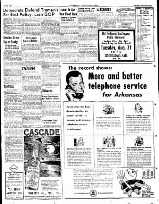 The Courier News from Blytheville, Arkansas on August 20, 1951 · Page 6