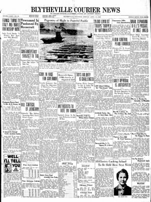 The Courier News from Blytheville, Arkansas on April 18, 1938 · Page 1