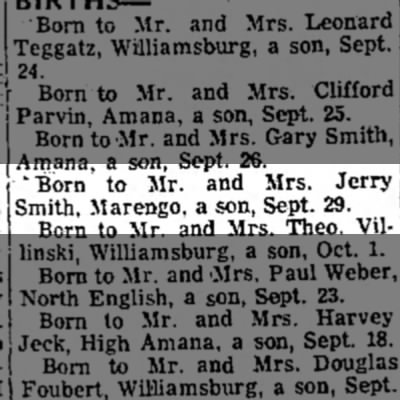 Eric Allen Smith Birth to Mr. and Mrs. Jerry Smith -