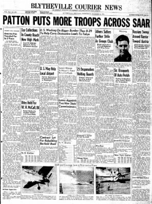 The Courier News from Blytheville, Arkansas on December 6, 1944 · Page 1