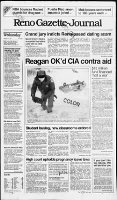 Reno Gazette-Journal from Reno, Nevada on January 14, 1987 · Page 1