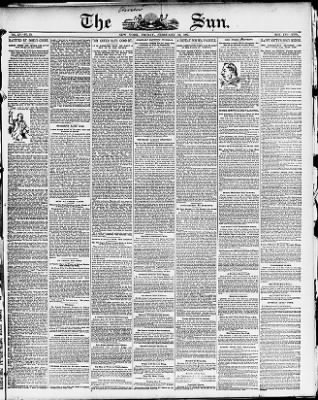 The Sun from New York, New York on February 18, 1887 · Page 1