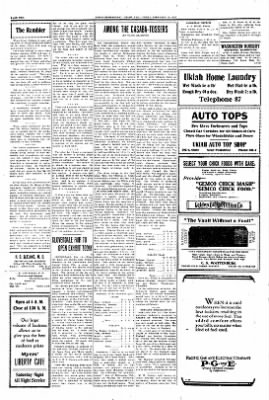 Ukiah Dispatch Democrat from Ukiah, California on February 19, 1926 · Page 2