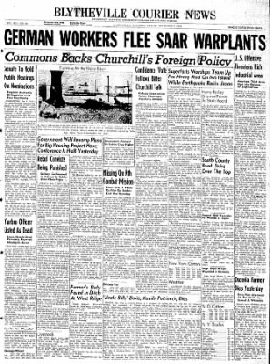 The Courier News from Blytheville, Arkansas on December 8, 1944 · Page 1