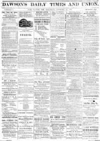 Sample Dawson's Fort Wayne Daily Times front page