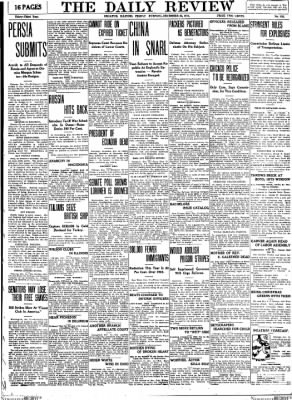 The Daily Review from Decatur, Illinois on December 22, 1911 · Page 1