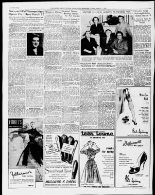 The Morning News From Wilmington Delaware On March 7 1952 34