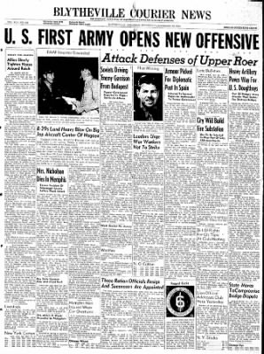 The Courier News from Blytheville, Arkansas on December 13, 1944 · Page 1