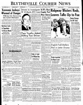 The Courier News from Blytheville, Arkansas on August 25, 1951 · Page 1